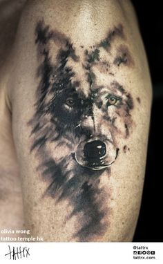 Olivia Wong, Tattoo Temple, Hong Kong #ink #tattoo #wolf