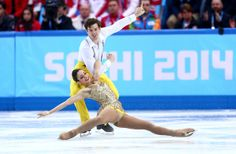Stefania Berton and Ondrej Hotarek of Italy compete in the Figure Skating Pairs Short Program during the Sochi 2014 Winter Olympics at Icebe...