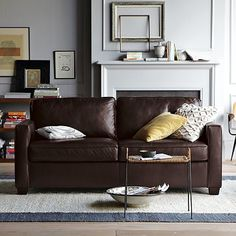 West Elm couch.  We need leather to clean it up easier.  Kids are rough on couches.