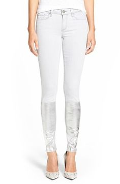 Paige Denim Paige Denim 'Verdugo' Ankle Ultra Skinny Jeans (Light Grey/Silver Solstice) available at #Nordstrom