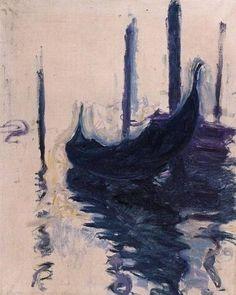 Claude Monet - Gondola in Venice