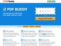 PDF Buddy, service en ligne pour modifier un PDF | Autour du Web