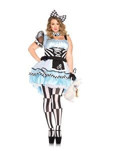 Halloween Costumes Women - Leg Avenue Women's Plus-Size Psychedelic Alice Costume, Blue/Black, ** You can find more details by visiting the image link. (This is an affiliate link) Adult Costumes, Costumes For Women, Halloween Costumes, Family Costumes, Disney Costumes, Halloween Makeup, Fairy Tale Costumes, Marvel Dc, Plus Size Halloween
