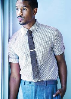 actor Michael B. Jordan by Phoenix White for Rolling Out July 2013