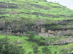 Lenyadri caves are a series of about 30 rock-cut Hinayana-Buddhist caves, located near Junnar in Pune district,  Maharashtra, India. Caves 6 and 14 are 'Arechaitya-Grihas' (Chapels), the rest are 'Viharas' (Monk-Dwellings).The caves face to the south and are numbered serially from east to west, and date from between the 1st and 3rd century AD;  Cave-7 is a famous Hindu temple dedicated to Ganesha that dates back to the 1st century AD.