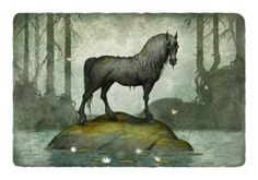 bäckahästen (the brook horse in english). It's from old scandinavian folklore and is often described as a majestic horse that would appear near rivers and lakes, especially during foggy weather. It would lure children to ride on it's back, and once you've climbed up, you cannot get down. The horse then jumps into the river, drowning the riders.