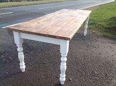 Rustic Pine shabby chic table 6 ft X 3 ft