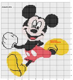 héros - cartoon - bd - mickey - point de croix - cross stitch - Blog : http://broderiemimie44.canalblog.com/