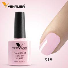#61508 Free Shipping Nail Art Venalisa New 60 Colors 7.5Ml Soak Off Gel Polish LED UV Gel Nail Polish