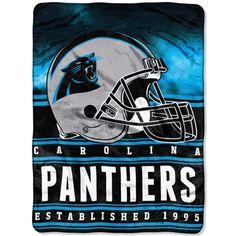 "Carolina Panthers 60"" x 80"" Stacked Silk Touch Plush Blanket"