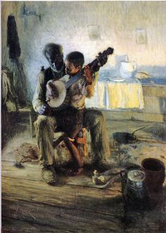 Tanner, Henry Ossawa (1859-1937) - 1893  The Banjo Lesson | by RasMarley