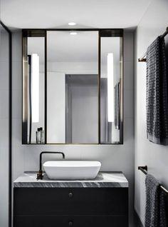 Australian Interior Design Awards - The Melburnian by Studio Tate Bathroom Design Inspiration, Bad Inspiration, Modern Bathroom Design, Bathroom Interior Design, Design Ideas, Interior Inspiration, Bathroom Designs, Australian Interior Design, Interior Design Awards