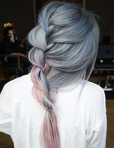 Pretty Perfect Pastel Metallic Braids Hairstyles Ideas for Spring 2018