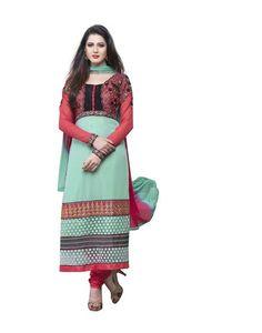 Mayloz Semi Stitched Georgette Embroidered Salwar Kameez M284-3012 At Aimdeals.com