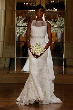 Beautiful lace wedding dress by Romona Keveza Legends, Spring 2015