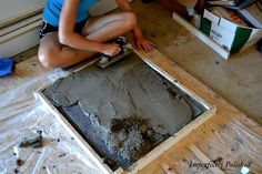 Step by step concrete counters.