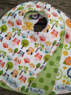 Boutique Baby Bibs  Set of 3 chenille bib by PickledBeetBoutique
