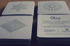Obra. Tarjetas Posavasos Container, Shopping, Social Environment, Natural Materials, Coasters, Cards