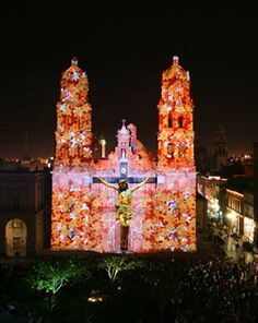 Fiesta de Luz, Catedral San Luis Potosi, Mexico --- the visible beauty of the Catholic Church :) amazing!!