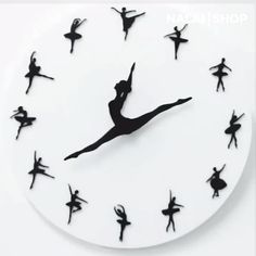 Ballet Clock This premium Ballet Clock always has time for dancing. The ballerina's legs represent the clock's hands and gracefully point to the time. It is made of durable high-quality acrylic material. The clock. Ballerina Legs, Nursery Decor, Room Decor, Girl Nursery, Wall Decor, Diy Clock, Clock Craft, Girl Dancing, Acrylic Colors