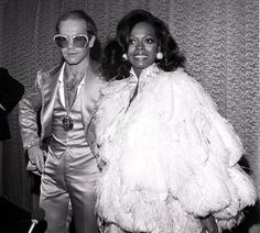 MUSIC ROYALTY? 1970sElton John and Diana Ross at Studio 54, NYC, 1970s. Follow us on Tumblr Pinterest Facebook Twitter