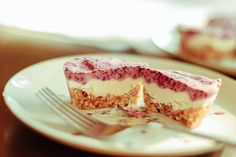 Blueberry Cardamon Raw Cheesecake Tart