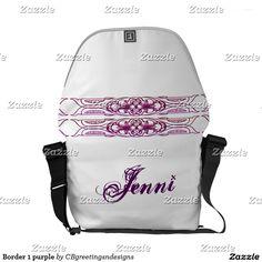 Border 1 purple courier bag