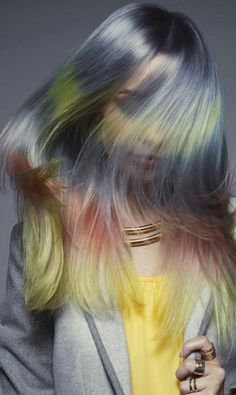 Pastel ombre dyed hair @daryna_barykina