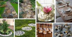 11 ideas maravillosas de decoración con guijarros: ¡Es imposible apartar la mirada!