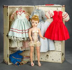 Antique Dolls, Vintage Dolls, Ribbon Skirts, Madame Alexander Dolls, Red Scarves, Pink Satin, Miniature Dolls, Doll Patterns, Fashion Dolls