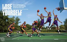 this is a series because it shows a man dunking in each step Yearbook Mods, Yearbook Pages, Yearbook Covers, Yearbook Spreads, Yearbook Layouts, Yearbook Design, Yearbook Theme, Yearbook Ideas, Page Layout Design