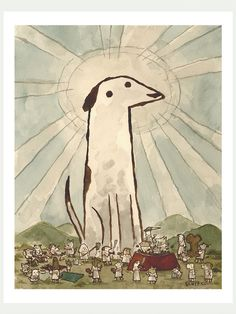Dogs Amongst Dogs - Scott Campbell - http://shop.pyramidcar.com/products/dogs-amongst-dogs