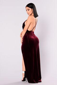 e60a991e6c Angelique Velvet Maxi Dress - Dark Burgundy