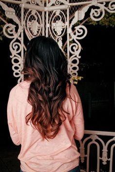 I want mine like this .!black hair ombre http://pinterest.com/NiceHairstyles/hairstyles/