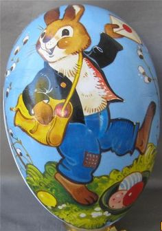 Beautiful German Paper Mache Easter Egg Box Erzgebirge Germany 4 5 Inch | eBay