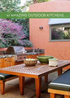 Isn't theresomething so luxuriousabout an outdoor kitchen? I look forward to dining al fresco when summer hits -and cooking outside is even more fun! You'll want one of your own after you check out these inspiringoutdoor kitchens.   1. Aview of the mountainsmakes this outdoor space even more amazing. [Photo: Simple Home Decoration] 2. This more affordable kitchen still has allthe necessities for making a great meal outside.[Photo: Home Adorable] 3. This bar area will makes guests…