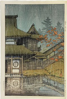 "Collection of scenic views of Japan, eastern Japan edition: The Yama Temple, Sendai"" by Kawase Hasui"