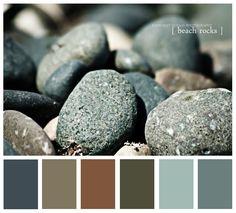 beach rock tones Exterior House Colors, Interior And Exterior, Beach Rocks, Paint Colours, Paint Ideas, House Painting, Cottage Style, West Coast, Color Palettes