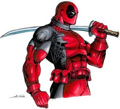 #Deadpool #Fan #Art. (Deadpool) By: Alex Venditti. ÅWESOMENESS!!!™ ÅÅÅ+