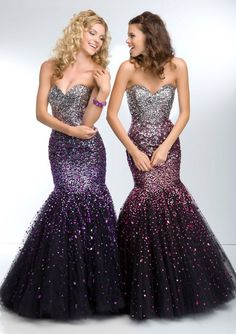 Paparazzi by Mori Lee Style 95127 Ombre Beading on Tulle Mermaid Prom Gown www.TheBridesShoppe.com