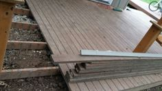 Pulling a deck to reside the house