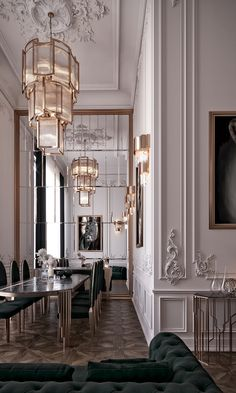 In this magnificent space you can feel a whole atmosphere that reminds us of the time of Louis XIV, a French Baroq Mansion Interior, Dream House Interior, Luxury Homes Dream Houses, Home Room Design, Dream Home Design, Living Room Designs, Luxury Home Decor, Luxury Interior Design, Interior Architecture