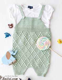 Romper crochet pattern free knitsi.com/knitting-for-boys/393-free-crochet-pattern-romper