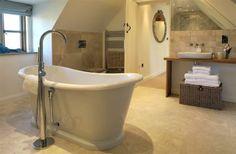 Border Oak Bathroom - fab freestanding bath