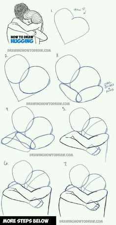 How to Draw Two People Hugging : Drawing Hugs Step by Step Drawing Tutorial - Pi. - How to Draw Two People Hugging : Drawing Hugs Step by Step Drawing Tutorial – Pinehouse – How - Drawing Techniques, Drawing Tips, Drawing Reference, Drawing Sketches, Drawing Ideas, Drawing Art, Drawing Poses, Pose Reference, Deep Drawing