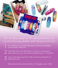 Pin to Win 10 Nail Polishes + a Cynthia Rowley #BandAid gift set!