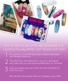 Pin to Win 10 Nail Polishes + a Cynthia Rowley #BandAid gift set!