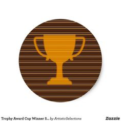Trophy Award Cup Winner Success NVN278 Sports GIFT Classic Round Sticker