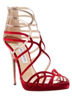 Loving these strappy Jimmy Choo sandals