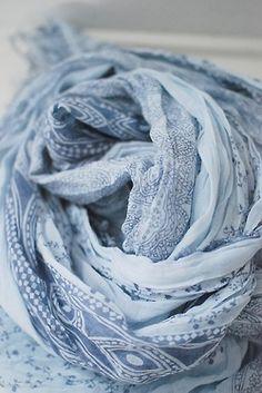 Light blue scarf. A Bohemian Life.